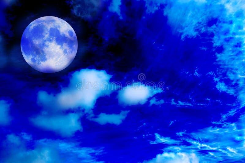 Mondnacht stockfoto