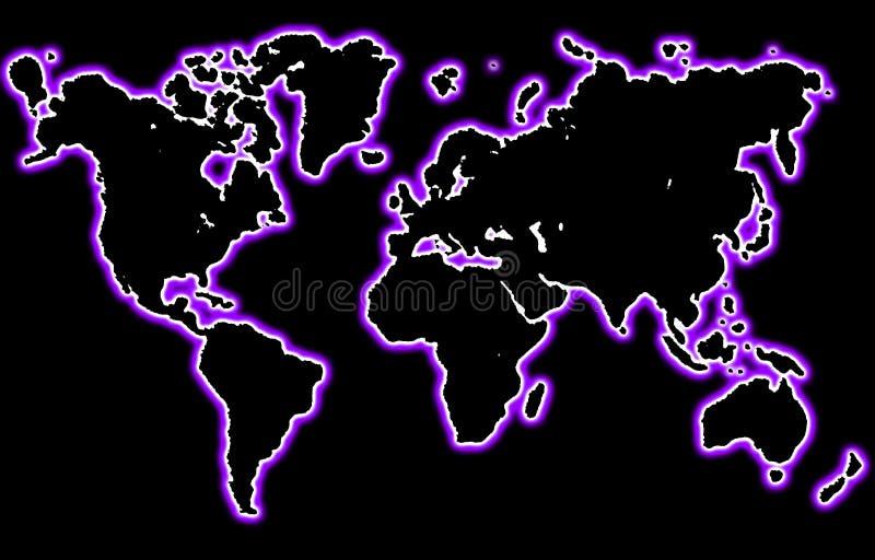 Mondo al neon illustrazione di stock