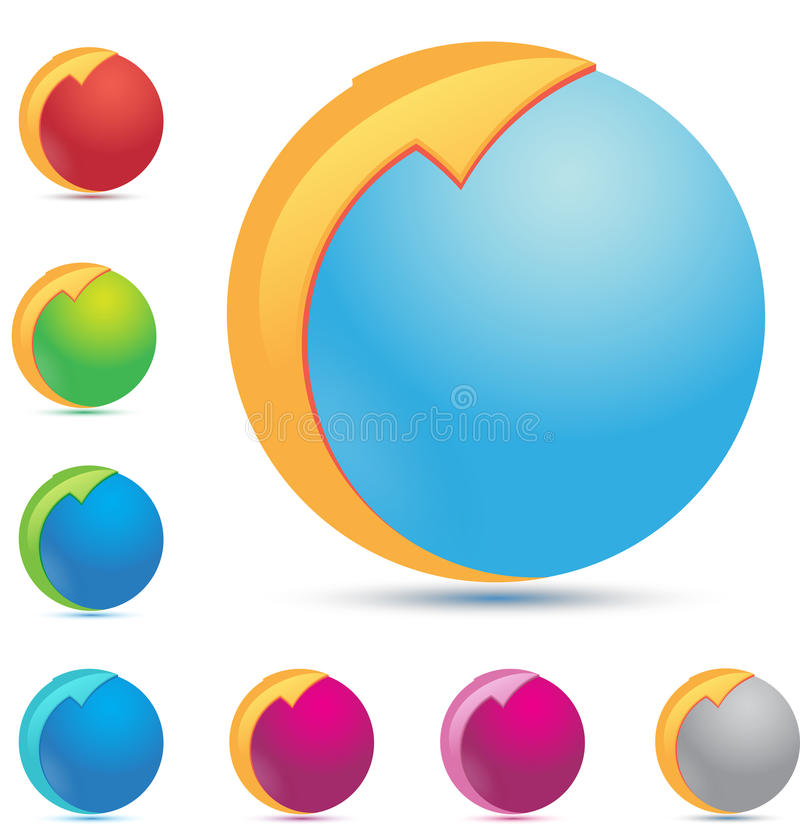 Download Mondo & frecce illustrazione di stock. Illustrazione di danni - 21550106