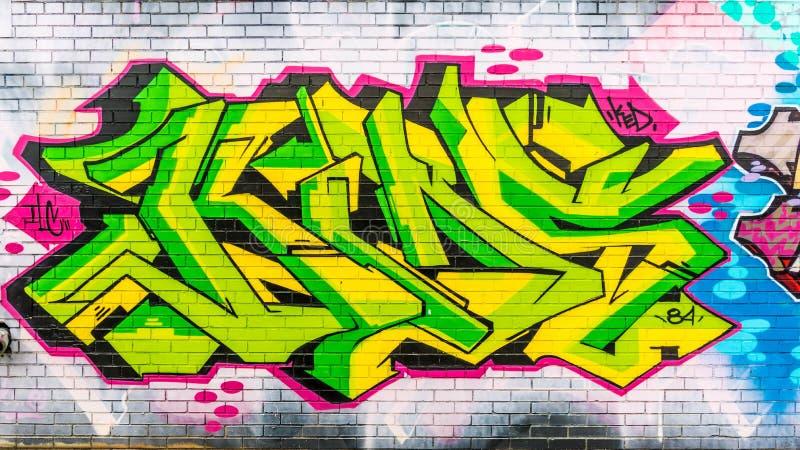 Mondo astratto variopinto dei graffiti fotografia stock