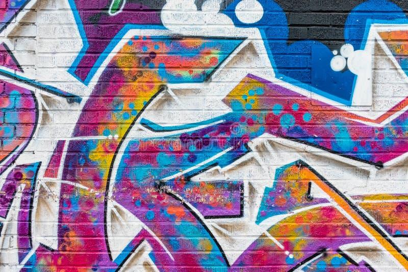 Mondo astratto variopinto dei graffiti immagine stock