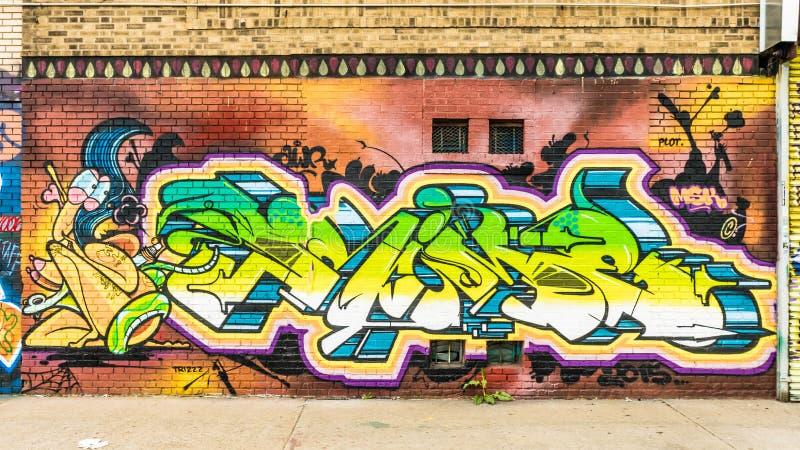 Mondo astratto variopinto dei graffiti immagini stock