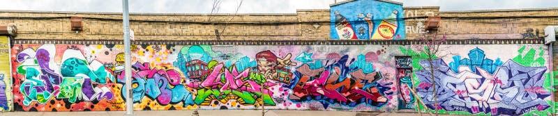 Mondo astratto variopinto dei graffiti fotografia stock libera da diritti