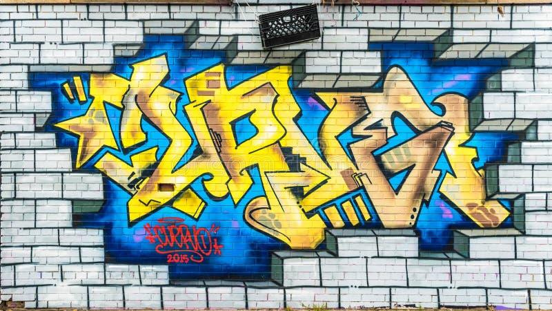 Mondo astratto variopinto dei graffiti immagini stock libere da diritti