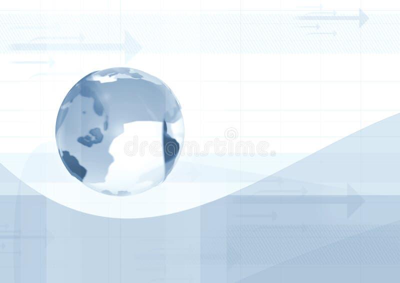Mondo blu illustrazione vettoriale