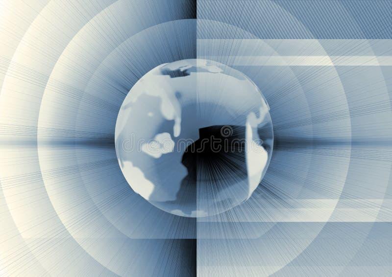 Download Mondo blu illustrazione di stock. Illustrazione di mercato - 3895083