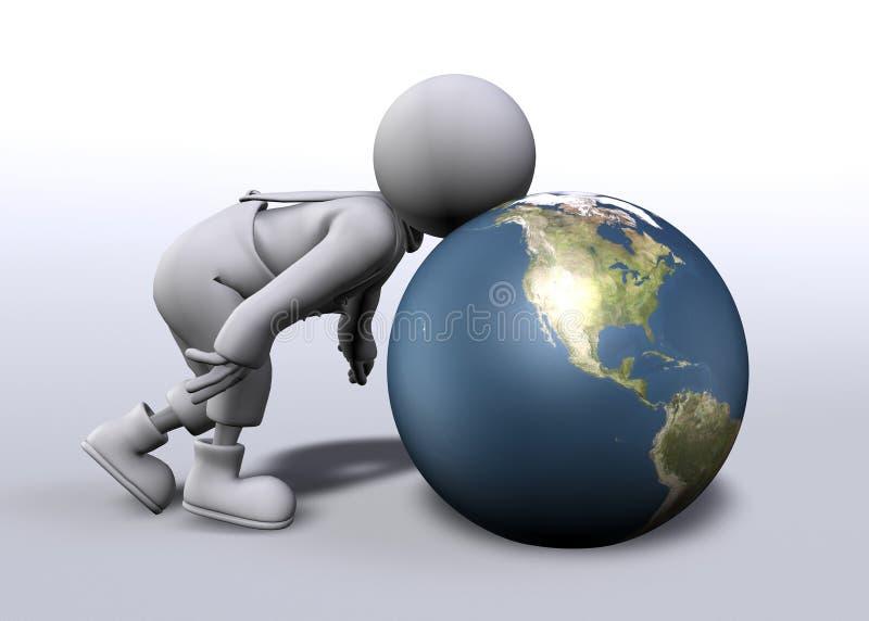 Mondo dalla vicinanza illustrazione di stock