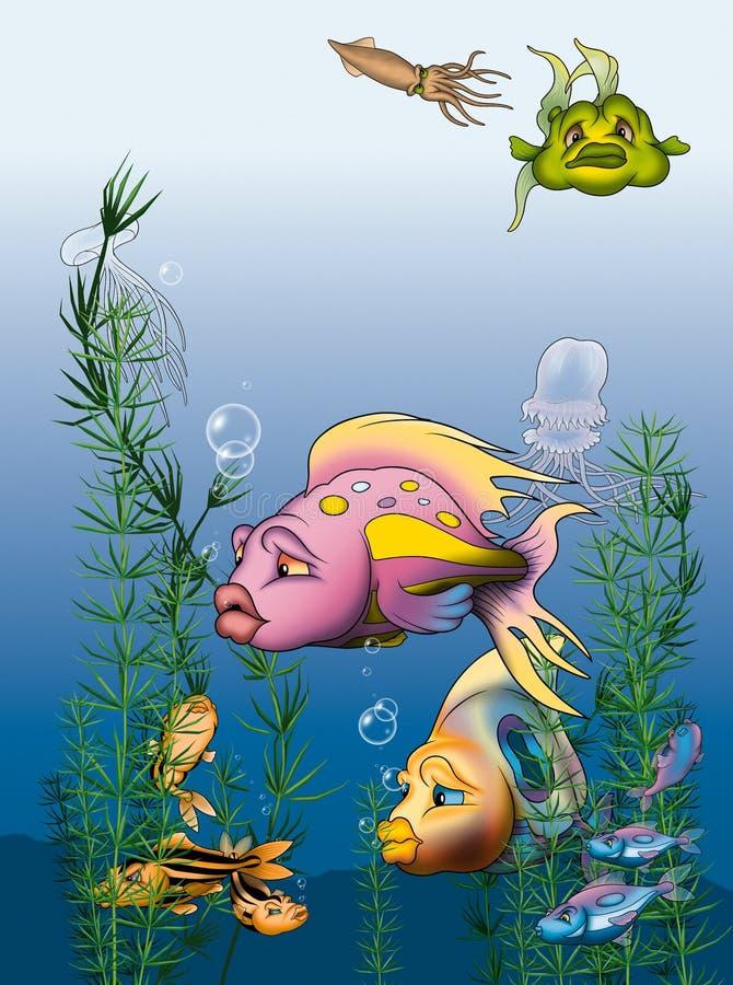 Mondo dei pesci illustrazione vettoriale