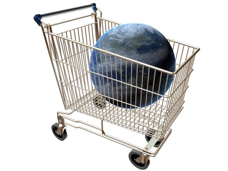 Mondo del carrello di acquisto fotografia stock