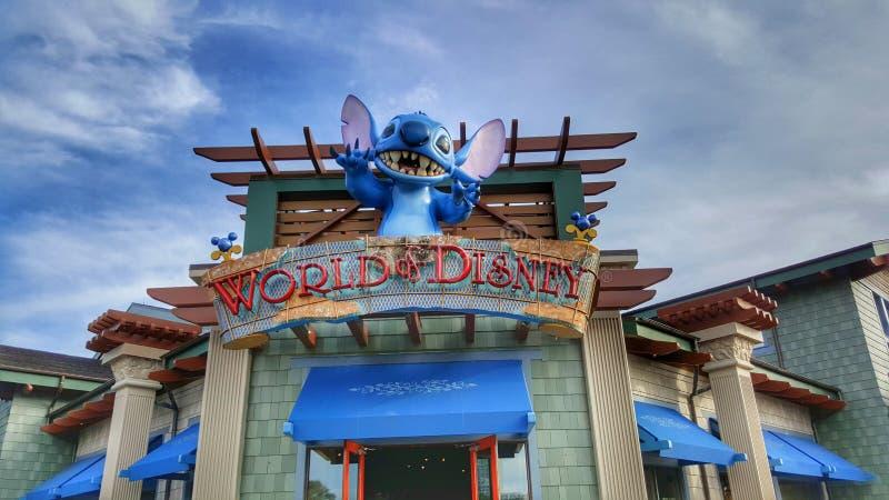 Mondo del segno di Disney immagine stock libera da diritti