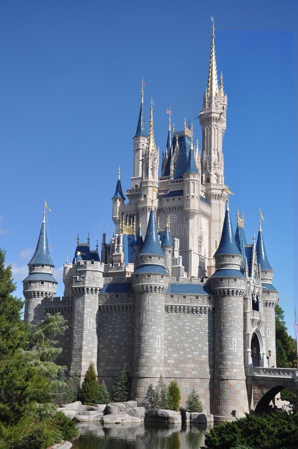 Mondo del Walt Disney del castello del Disney Cinderella fotografia stock libera da diritti