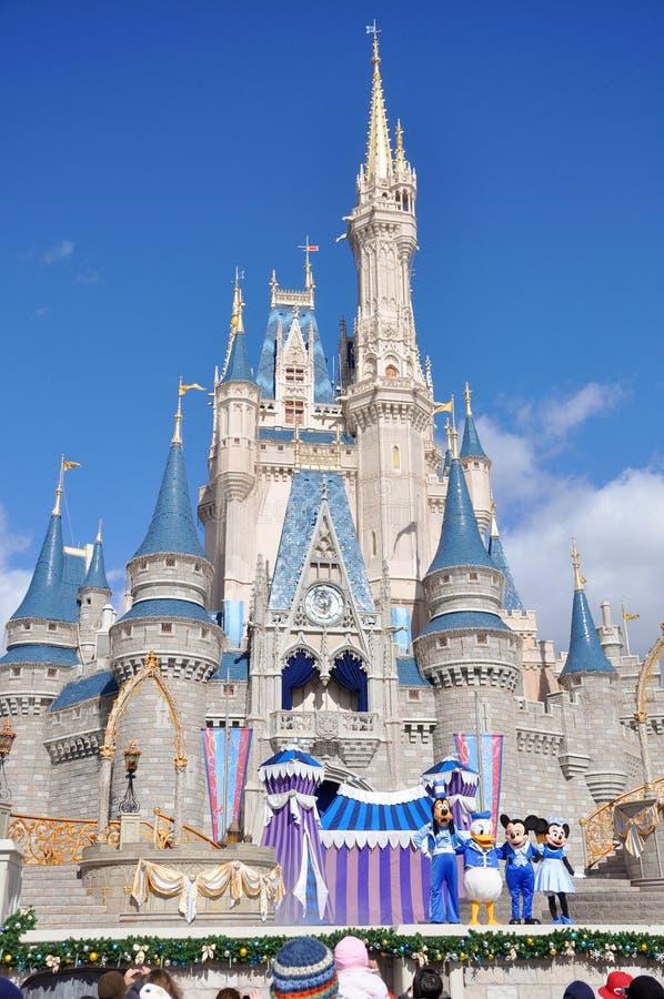 Mondo del Walt Disney del castello del Disney Cinderella immagine stock