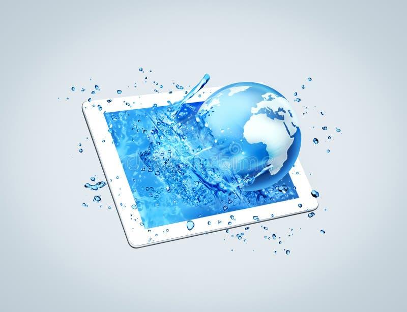Mondo dell'acqua della compressa illustrazione vettoriale
