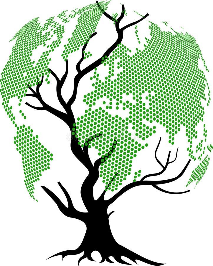 Mondo dell'albero illustrazione di stock