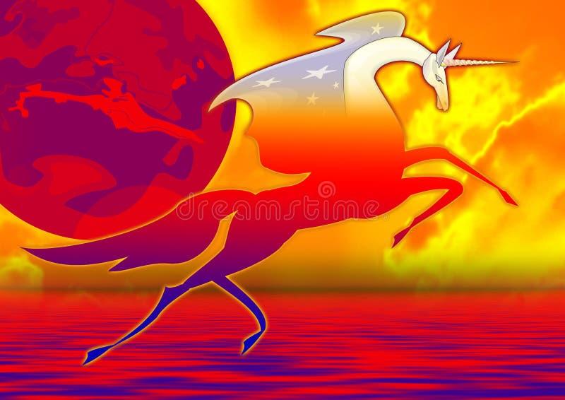 Mondo dell'unicorno illustrazione vettoriale