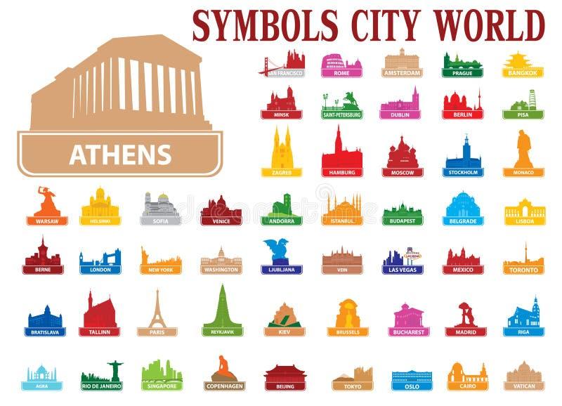 Mondo della città di simboli