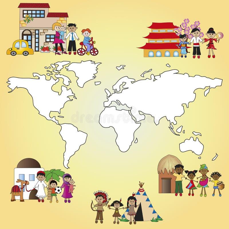 Mondo della famiglia illustrazione vettoriale