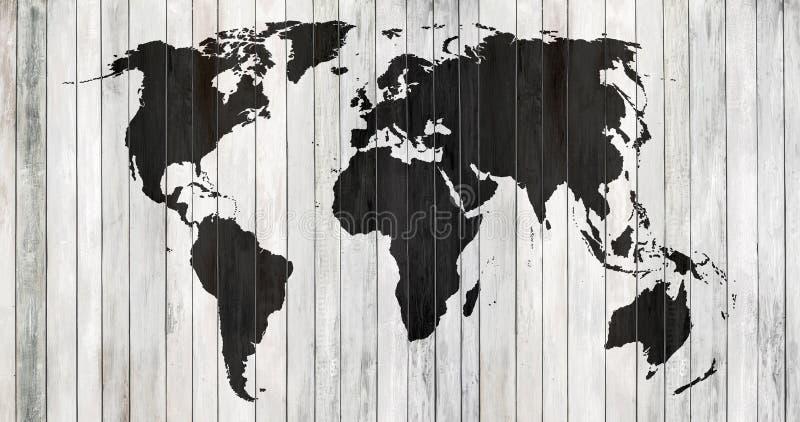 Mondo della mappa contornata fotografia stock libera da diritti