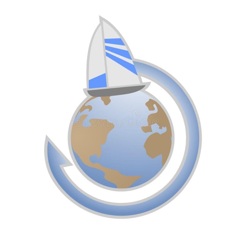 Mondo della nave illustrazione di stock