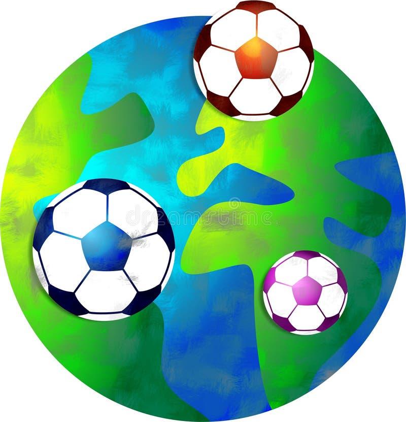 Mondo di calcio illustrazione di stock