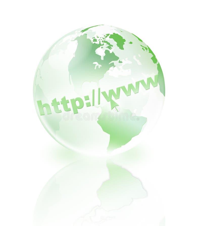 Mondo di cristallo verde illustrazione di stock