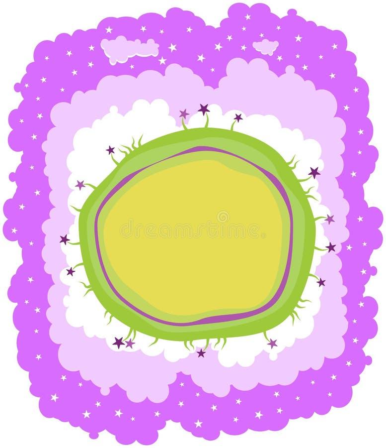 Mondo di sogno con le stelle illustrazione vettoriale