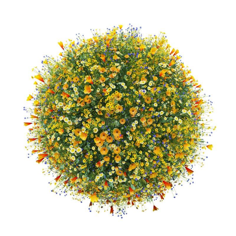 Mondo fatto con i fiori, mondo verde illustrazione vettoriale