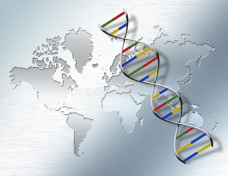 Mondo genetico royalty illustrazione gratis