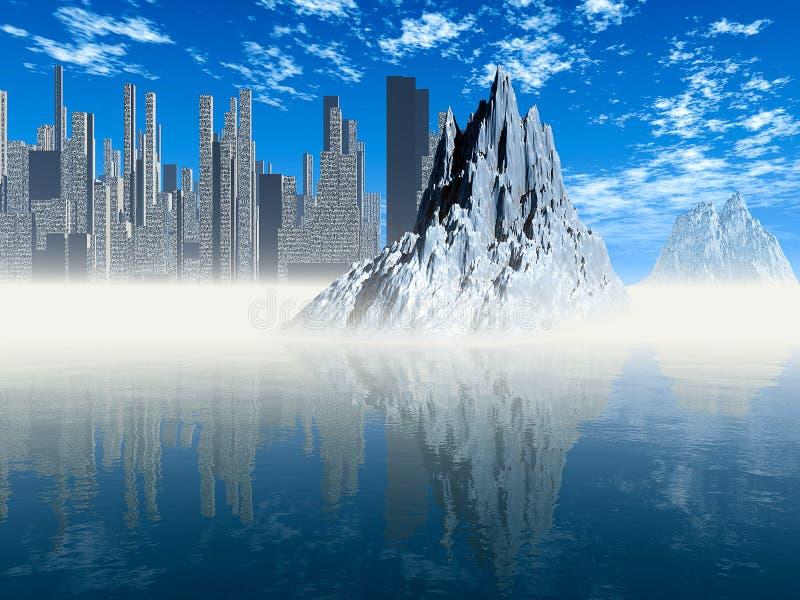 Mondo ghiacciato illustrazione vettoriale
