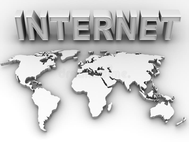 Mondo. Internet illustrazione vettoriale