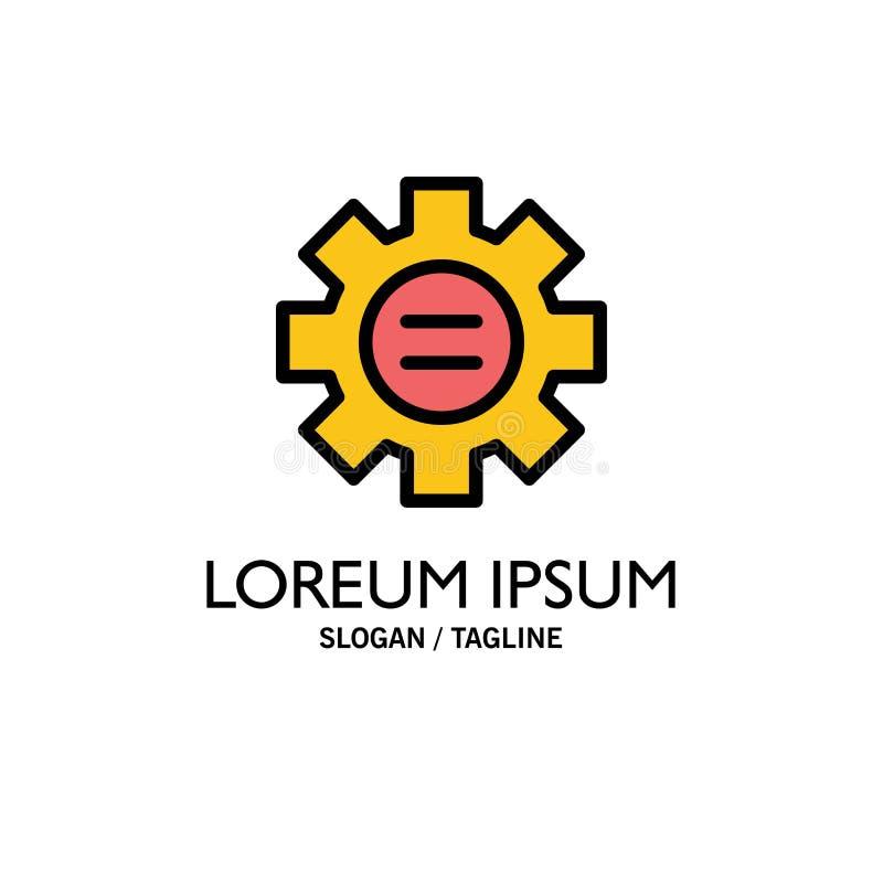 Mondo, istruzione, regolazione, affare Logo Template dell'ingranaggio colore piano illustrazione vettoriale