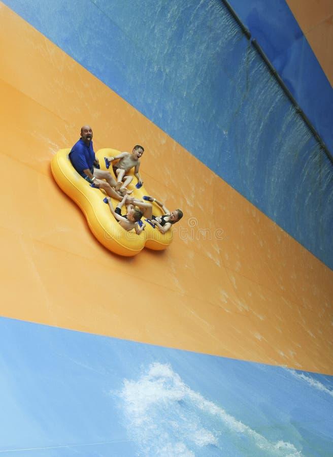Mondo Monsoon Thrill Ride an tränken Stadt, Könige Island lizenzfreies stockbild