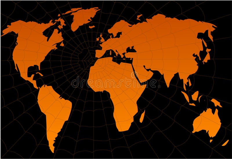 Mondo nell'ambito del Web illustrazione vettoriale