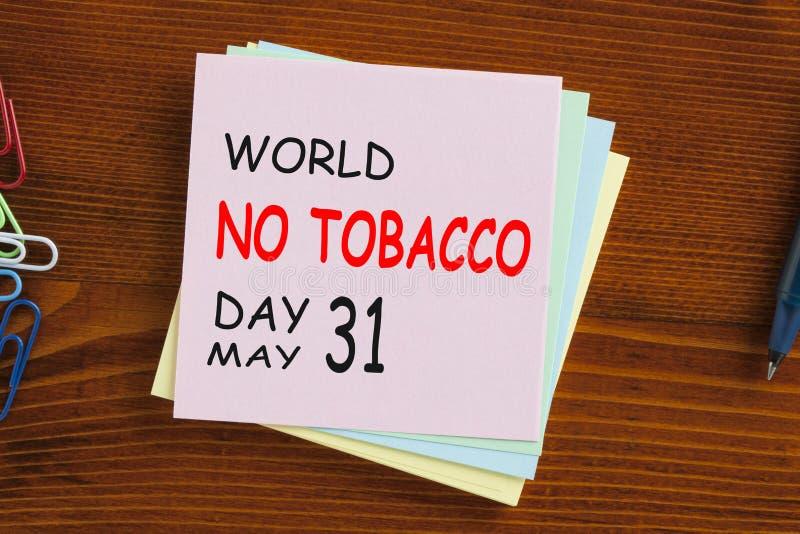 Mondo nessun concetto di giorno del tabacco immagini stock libere da diritti