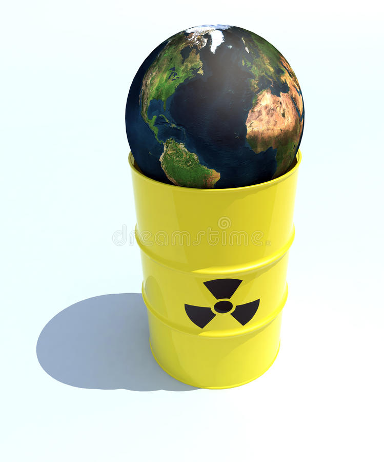 Mondo nucleare all'interno dello scomparto illustrazione vettoriale