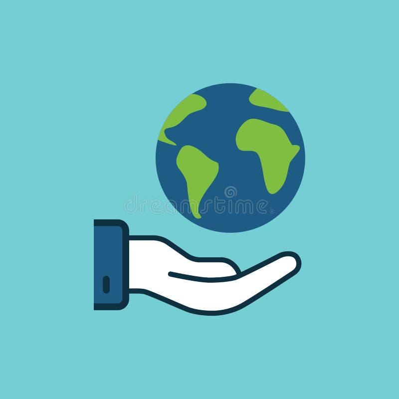 Mondo piano di risparmi di colore, icona disponibila della terra royalty illustrazione gratis