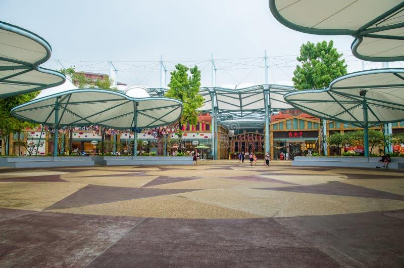 Mondo Sentosa, Singapore della località di soggiorno immagine stock libera da diritti