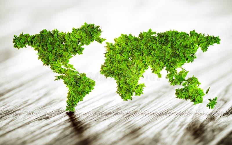 Mondo sostenibile illustrazione di stock