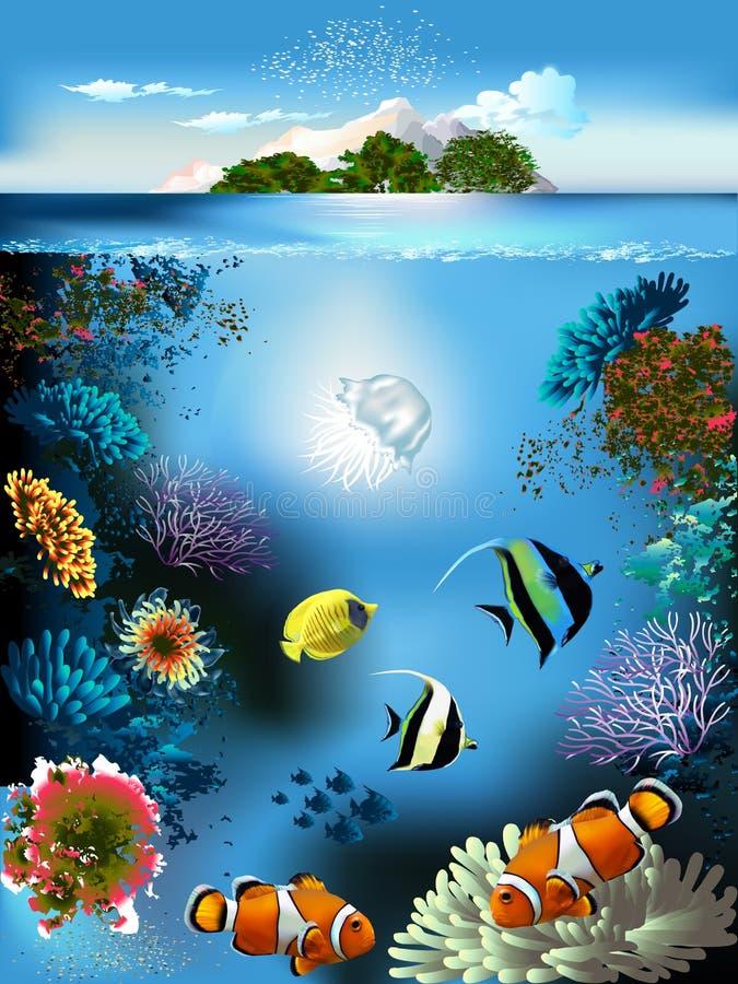 Mondo subacqueo illustrazione di stock