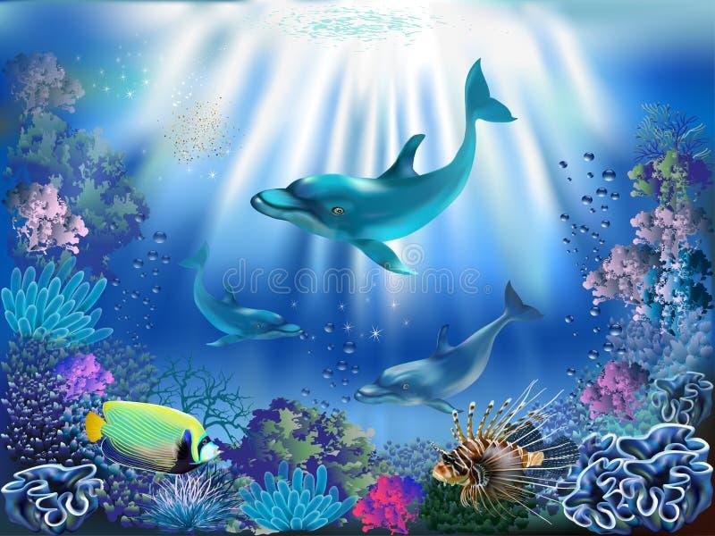 Mondo subacqueo royalty illustrazione gratis