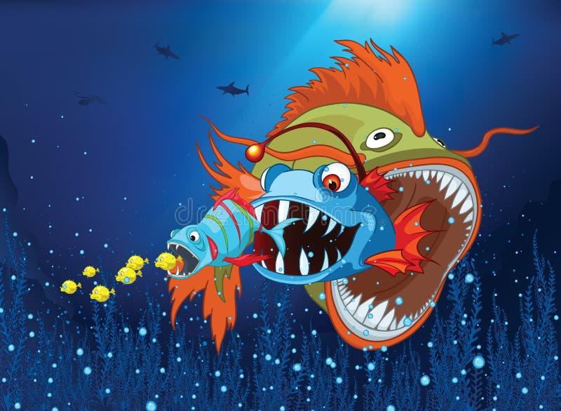 Mondo subacqueo dell'oceano illustrazione di stock