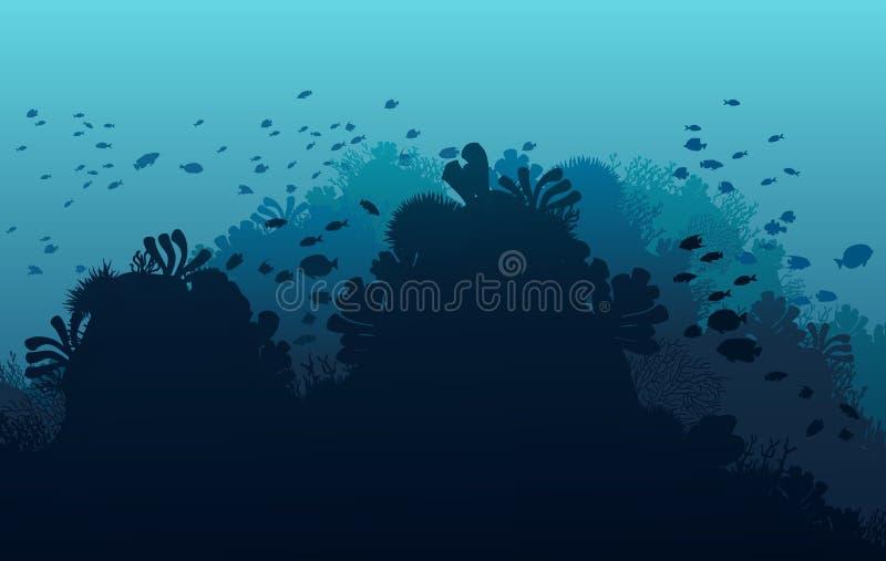 Mondo subacqueo dell'oceano con gli animali royalty illustrazione gratis
