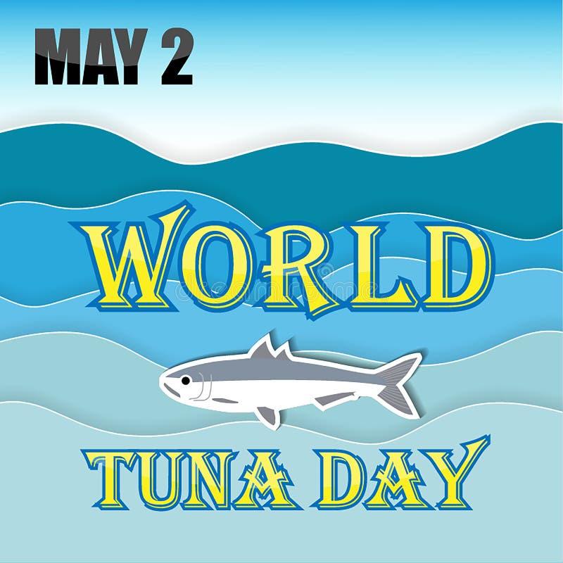 Mondo Tuna Day illustrazione di stock