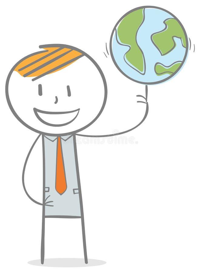 Mondo in una mano royalty illustrazione gratis