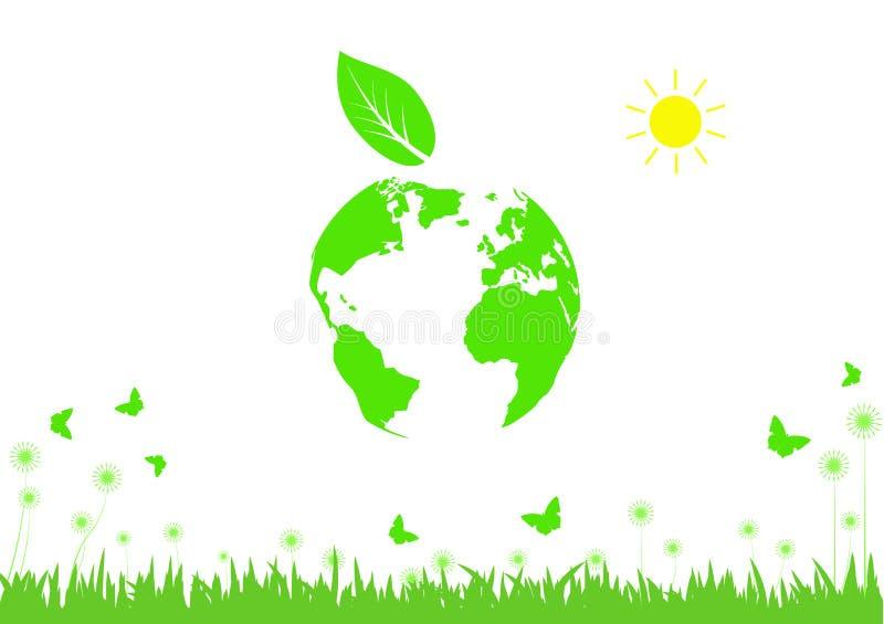Mondo verde e pulito, concetto di Giornata mondiale dell'ambiente royalty illustrazione gratis
