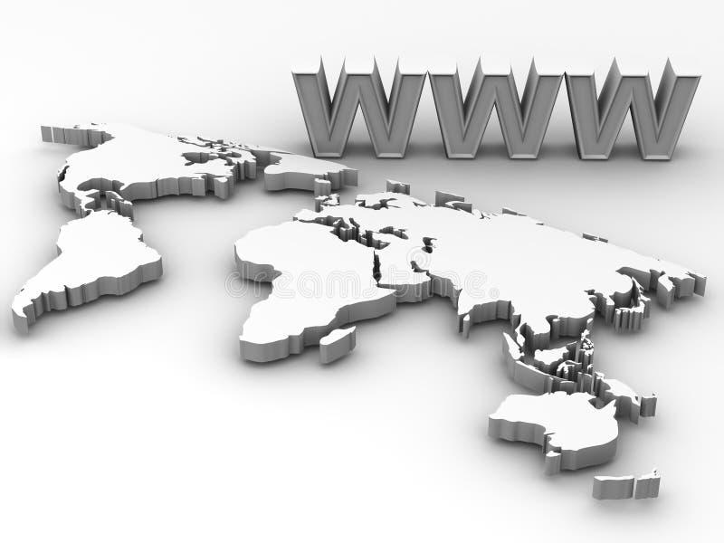 Mondo. WWW illustrazione di stock
