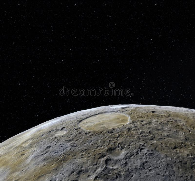 Mondoberfläche Realistische 3d übertragen vom Mond und vom Raum Raum und Planet satellit necropolis Sterne Elemente dieses Bildes lizenzfreie abbildung