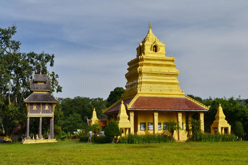 MondopMandapa.Wat Si Po Chai,Na Haeo District,Loei Province,Thailand. Wat Si Po Chai is locatedeven closer to the border country with Laos close to the royalty free stock photos