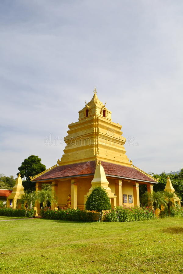 MondopMandapa.Wat Si Po Chai,Na Haeo District,Loei Province,Thailand. Wat Si Po Chai is locatedeven closer to the border country with Laos close to the stock images