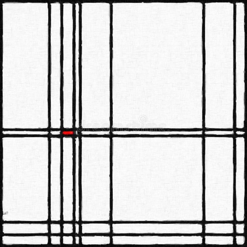 Mondrian启发了数字式绘画01 皇族释放例证